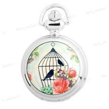 Bird Cage (Deep Red) Pocket Watch #bright #jewelry #necklace #pendant #pretty #silver #steampunk #vintage   40% off orders over $50.  Free shipping and handling orders of $25 or more.  #Christmas #Present  www.ceesquared.ca