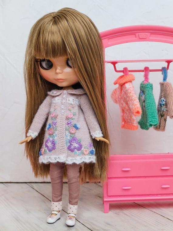 Große Schönheit Blythe Kleidung Blythe Strickpullover für Bild 8   – BLYTHE