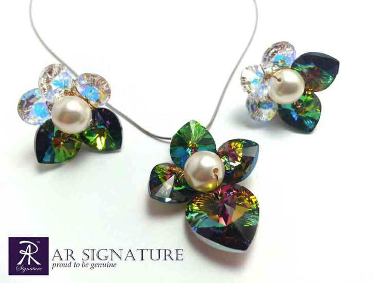 AR SIGNATURE - Fleur de Amazon  Inspired by Amazon ecosystem- hand made using genuine Swarovski elements - designed by AR SIGNATURE