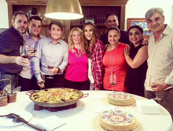 Anna Alexis Michel - with the team of El Beso del Jabali at Angelica Castro's home. With Eduardo Roman, Angelica Castro, Tess Penelas, Pedro Balmaseda, Jorge Noa.