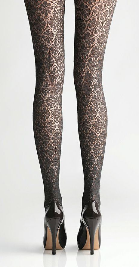 Grey tights with ornaments. Check out our tips on the best tights >>> http://bit.ly/1hAbTZS