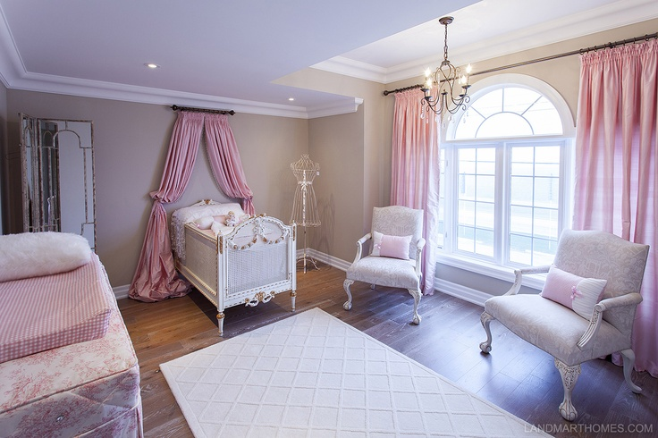 Victorian elements give this nursery room a classic feel. Penny Lane Estates in Stoney Creek, Ontario. By Landmart Homes. #hamont #bedroomideas