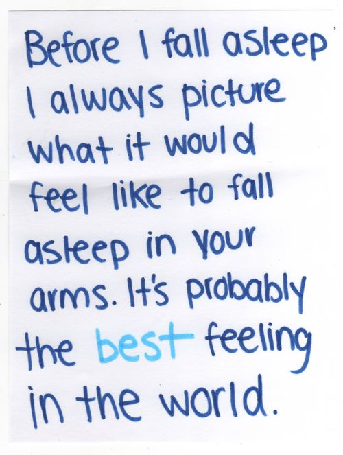 I want to feel this way.