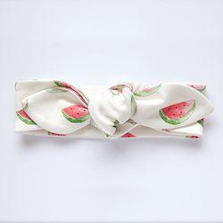 Organic Cotton Knot Headband - Watermelon