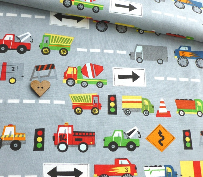 Ten Little Thinks - Cars and Trucks - Grey