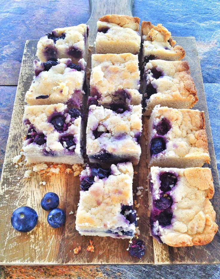 Grain Free Blueberry Lemon Bars. (Gluten/Dairy/Egg Free)
