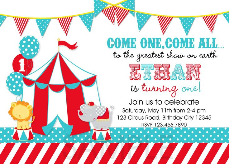 236 best Party Invitations images on Pinterest Birthdays - circus party invitation