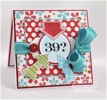 39? Again? Card by Debbie Olson for Papertrey Ink (May 2010)