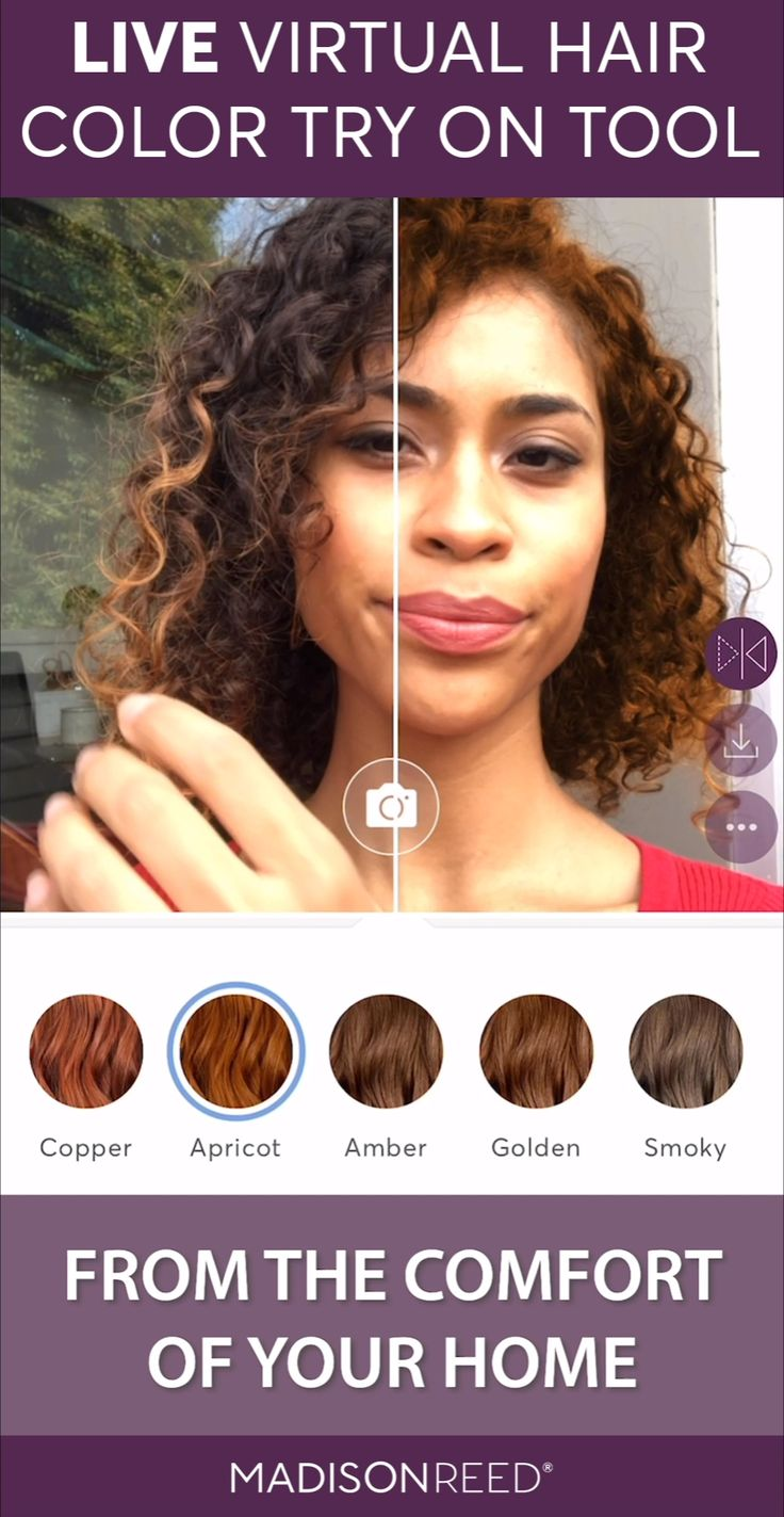 Try on your new hair color before you buy or dye! Use your