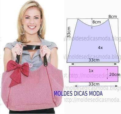 Image result for revistas de modelos de bolsas em tecido com moldes
