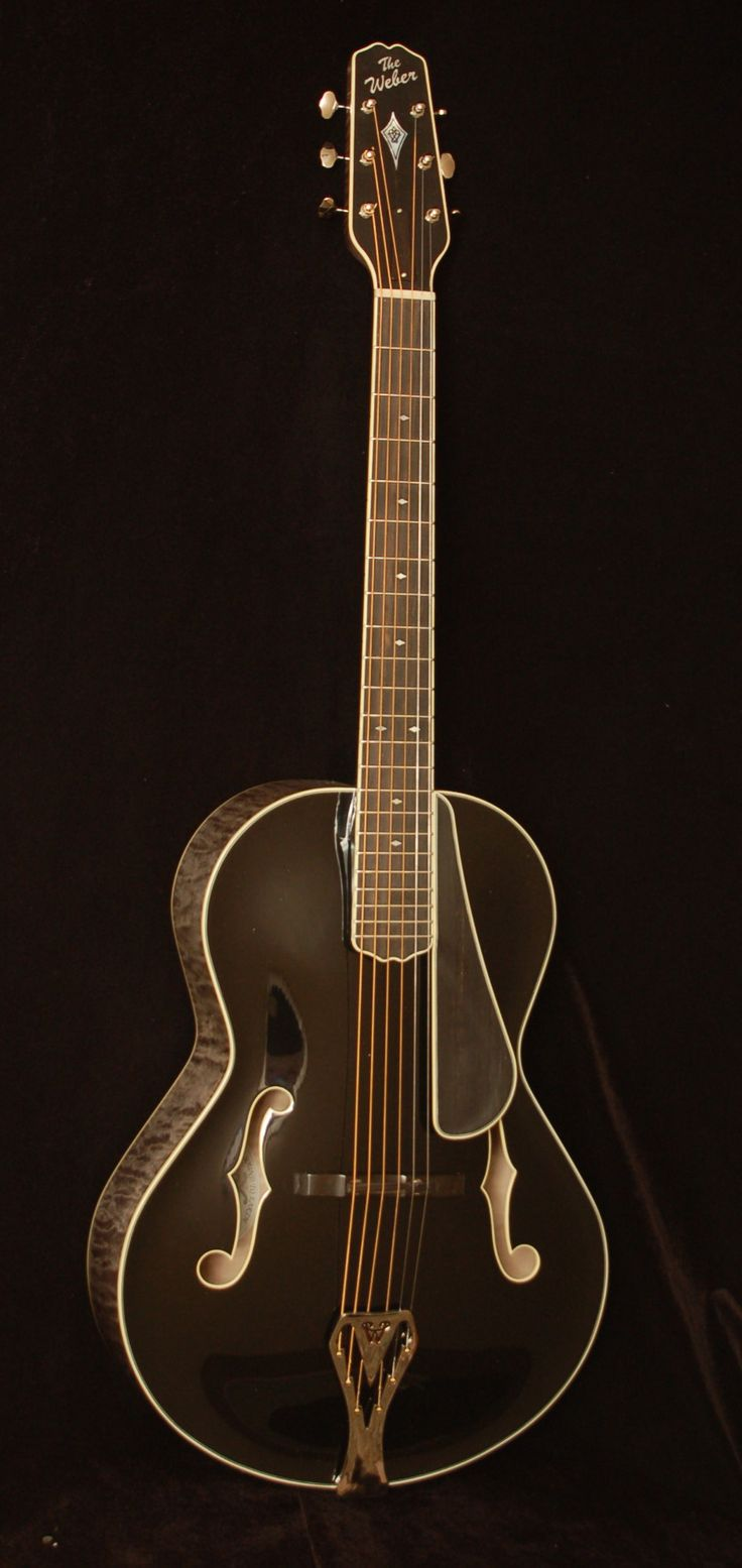 Weber Black Ice Archtop Guitar - <3'd by Stringjoy Custom Guitar & Bass Strings. Create your signature set today at Stringjoy.com #guitar #guitars #music