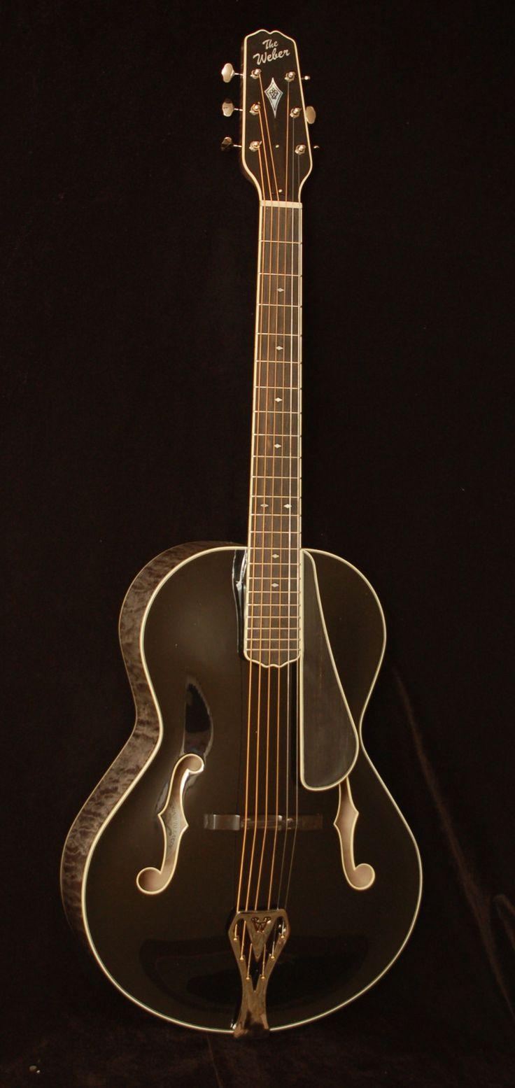 Weber Black Ice Archtop Guitar - <3'd by Stringjoy Custom Guitar & Bass Strings. Create your signature set today at Stringjoy.com #guitar #guitars #music