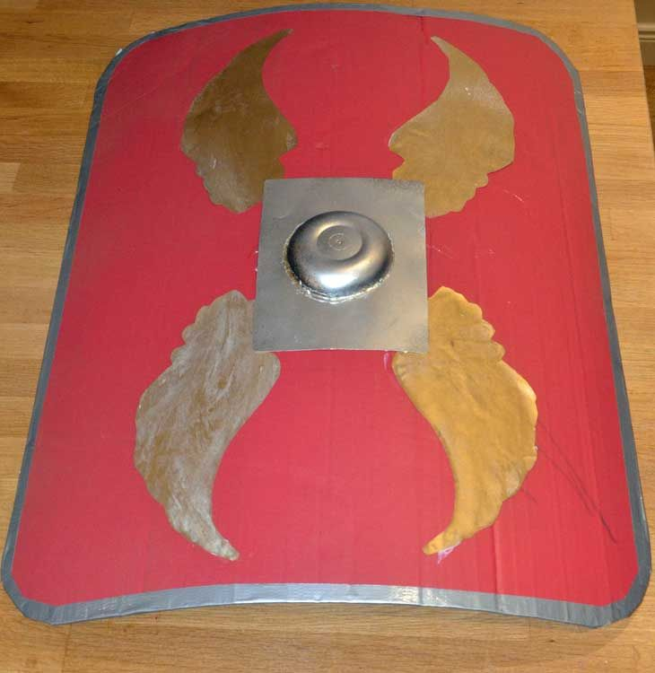 Keep safe from flying missiles by making your very own Roman Shield with this craft activity for kids.