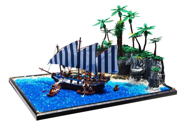 216 best images about lego pirate on pinterest queen anne lego and the three musketeers - Ile pirate lego ...