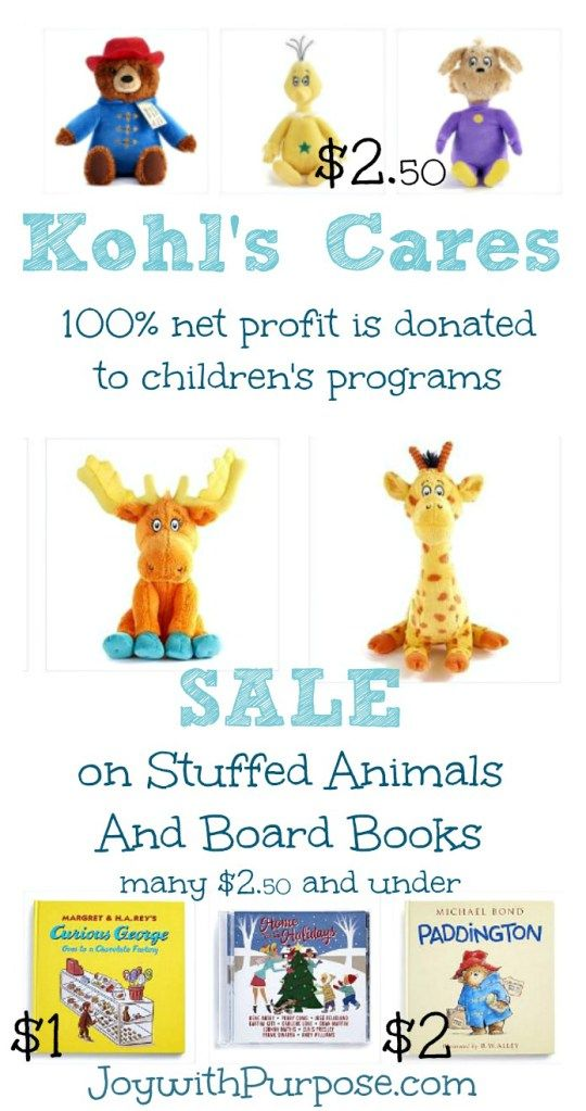Sale On Kohls Cares Stuffed Animals And Books