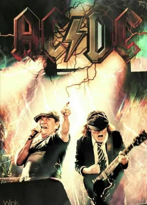 Brian Johnson & Angus Young poster