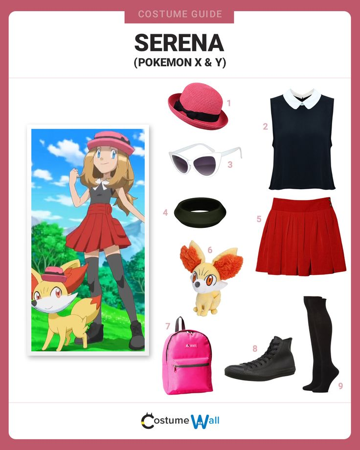 Get a costume like Serena, the Pokemon trainer from Pokemon X and Y, who is a travel companion of Ash Ketchum.