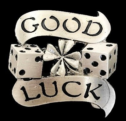 Good Luck Lucky Charms Dices Gambler Gambling Casino Poker Belt Buckle Buckles #goodluck #goodluckcharm #dice #gambling #gambler #rollthedice #casino #buckle #beltbuckle #buckles