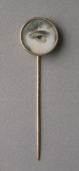 Eye miniature gold stickpin