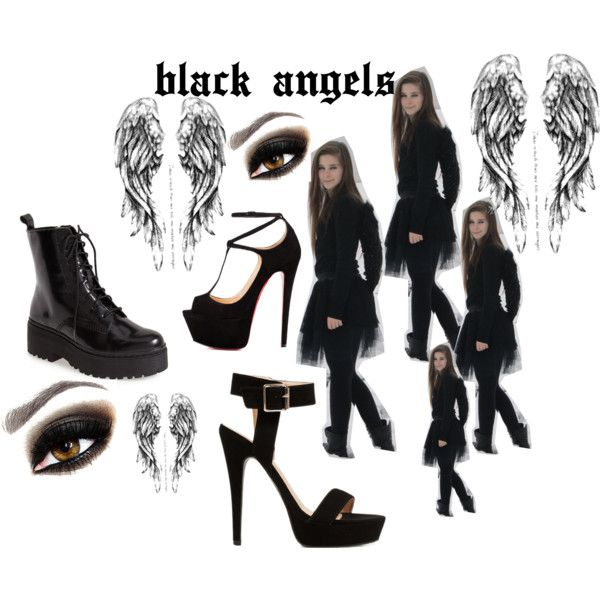 """black angels"" by ildiko-vrabecz on Polyvore"