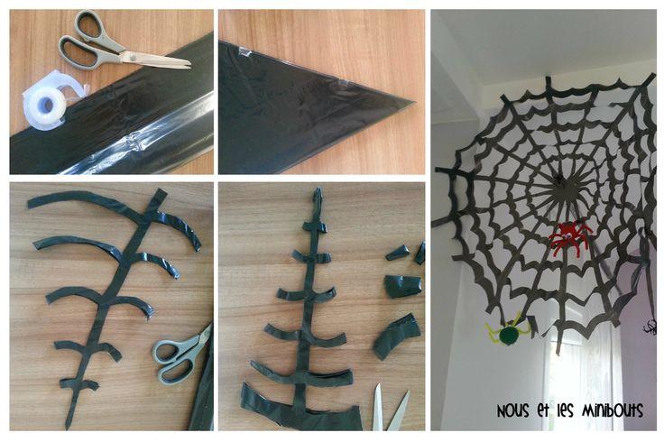 toile d'araignée en sac poubelle - spider web