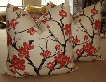 FLOWERING CHINESE QUINCE Pillows by Walsh Designs asian pillows