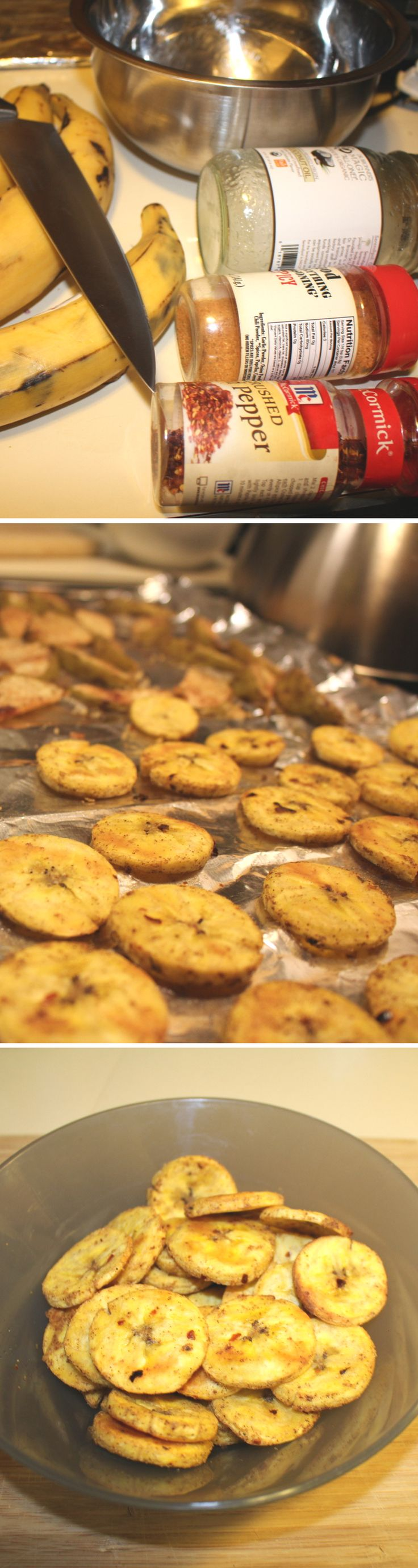 Enjoy this simple healthy recipe perfect for meal prep that is delicious! These baked plantain chips are very yummy.  meal prep / clean eating / health / wellness / women / healthy tips / snacks / plantains / recipe