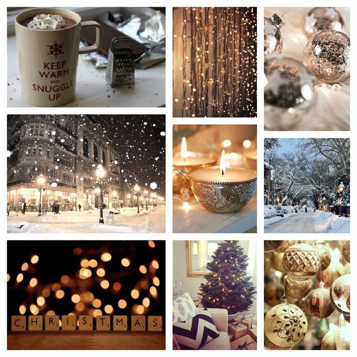 #snow #glitter #collage