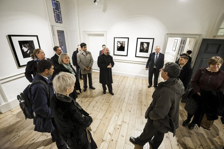 DMU staff and students had a sneak preview of celebrity photographer Andy Gotts' new exhibition – before his work was thrown into the spotlight at the Baftas. Andy, who graduated from DMU's Photography Master's course in 2007, escorted the DMU group around his 'Behind the Mask' exhibition at Somerset House, in London.
