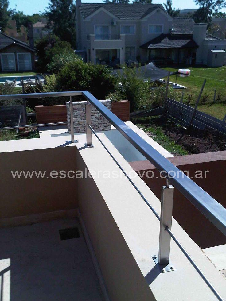 Baranda con tensores n29 venta de escaleras y barandas for Barandas de escalera