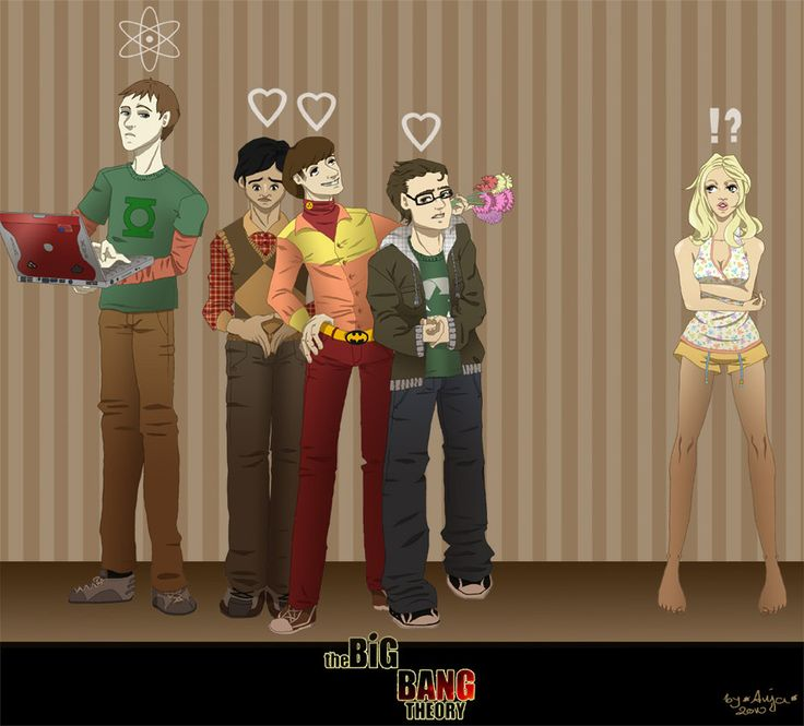 The Big Bang Theory - The gang by Chisako | SHENNY | Pinterest ...