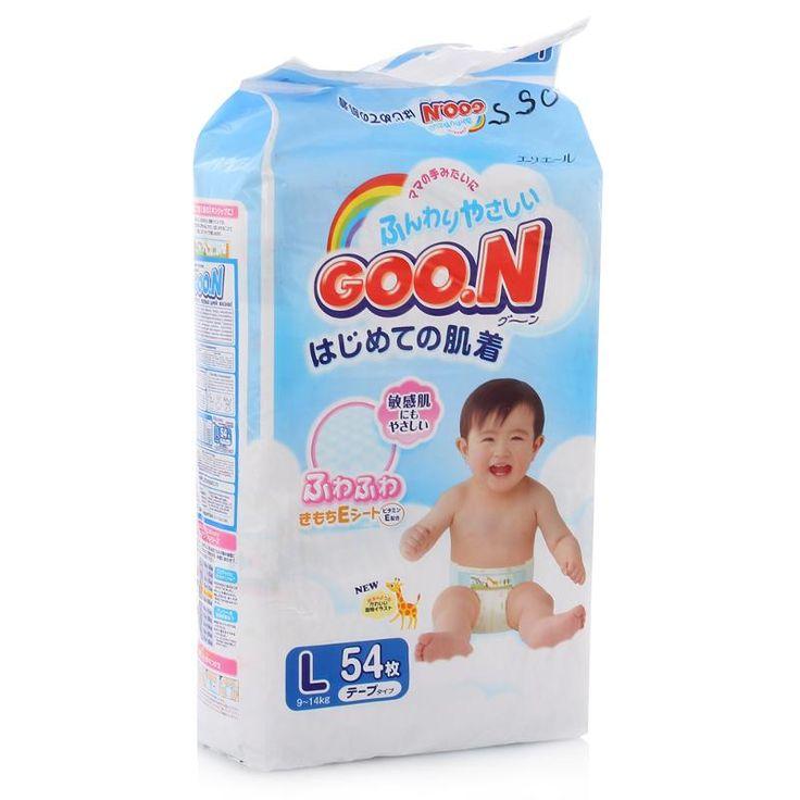 Подгузники Goon L (9-14 кг), 54 шт