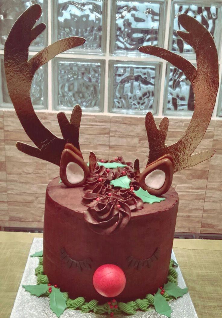 Layer Cake de Chocolate y Frutos Rojos del Reno Rudolph!