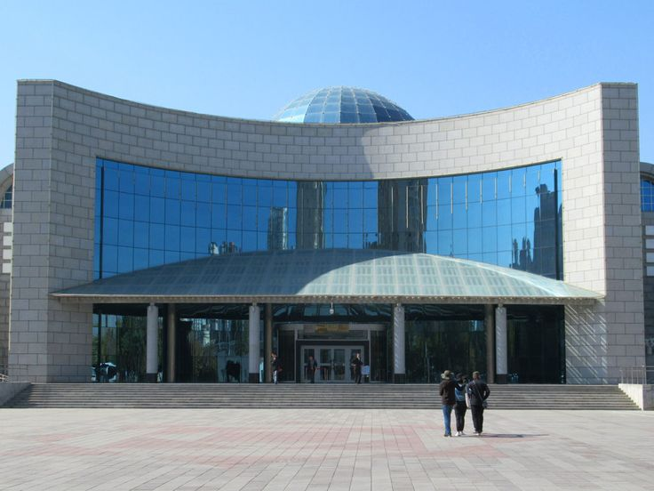 The Xinjiang Uygar Autonomous Region Museum in Urumqi, Xinjiang, China, contains extensive history and ethnology halls.