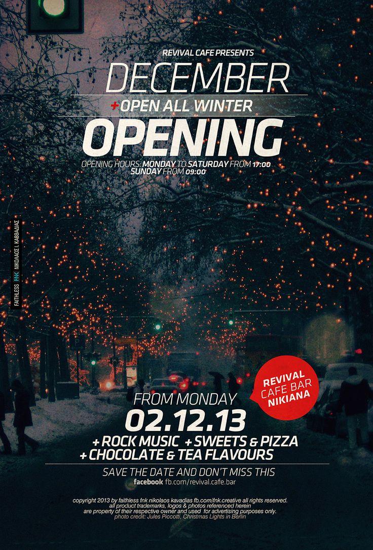 december opening event poster http://fb.com/fnk.creative