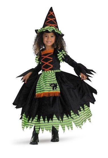 This has got to be one of the cutest story book Witch costumes for a little Girls