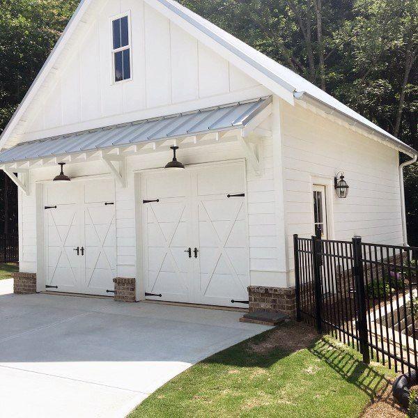 Top 60 Best Detached Garage Ideas Extra Storage Designs Garage Doors House Exterior Building A Garage