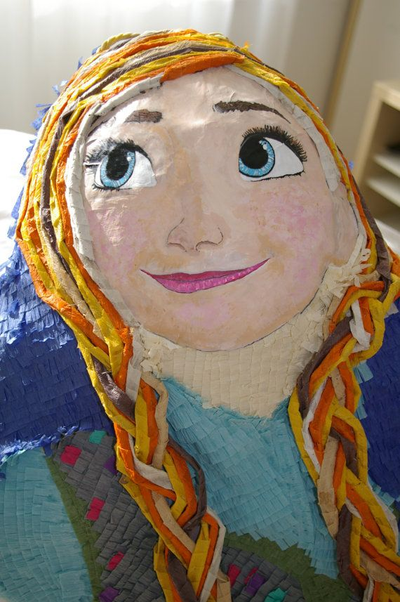 Princess Anna of Arendelle Piñata by WoWpinatas on Etsy