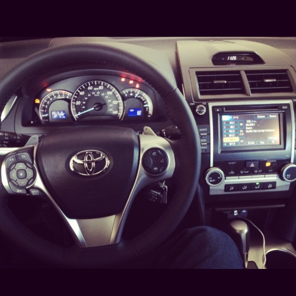 Black 2012 Toyota Camry SE Limited Edition. Sweet dash.
