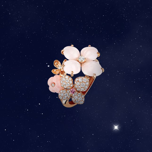 """Select the Hortensia """"Aube rosée"""" ring. Find out more:"""