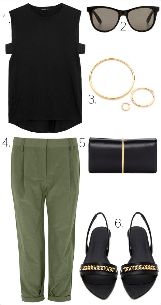 KEEP IT SIMPLE - black and olive - Le Fashion