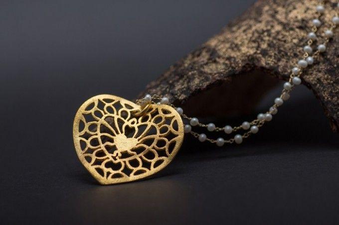 Moonlight Heart pendant