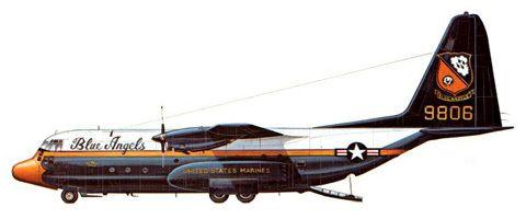 KC-130 F, Blue Angels, U.S. Marine Corps.