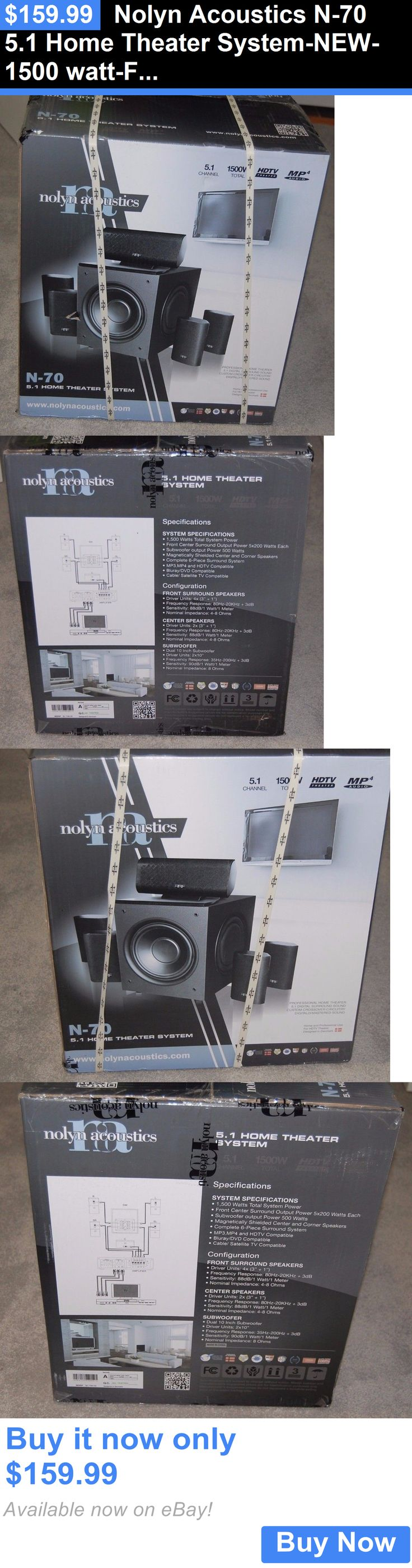 Home Theater Systems: Nolyn Acoustics N-70 5.1 Home Theater System-New-1500 Watt-Free Ship BUY IT NOW ONLY: $159.99