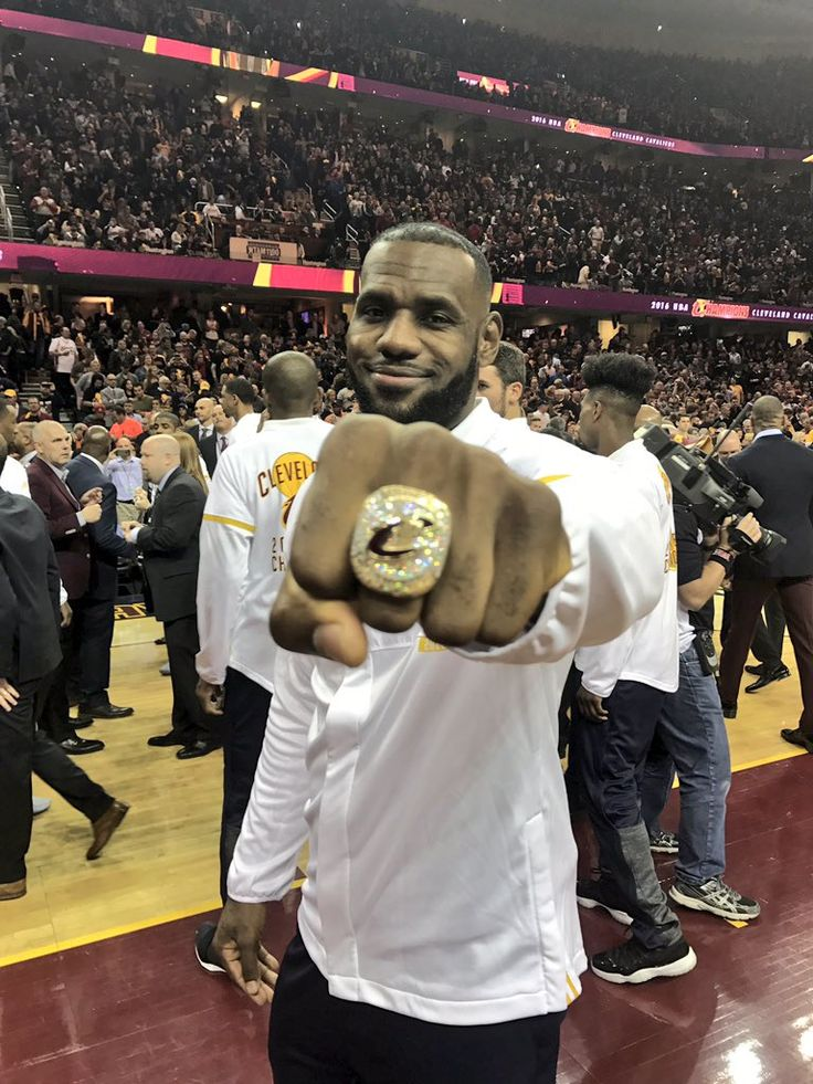 A ring fit for a king. LeBron James