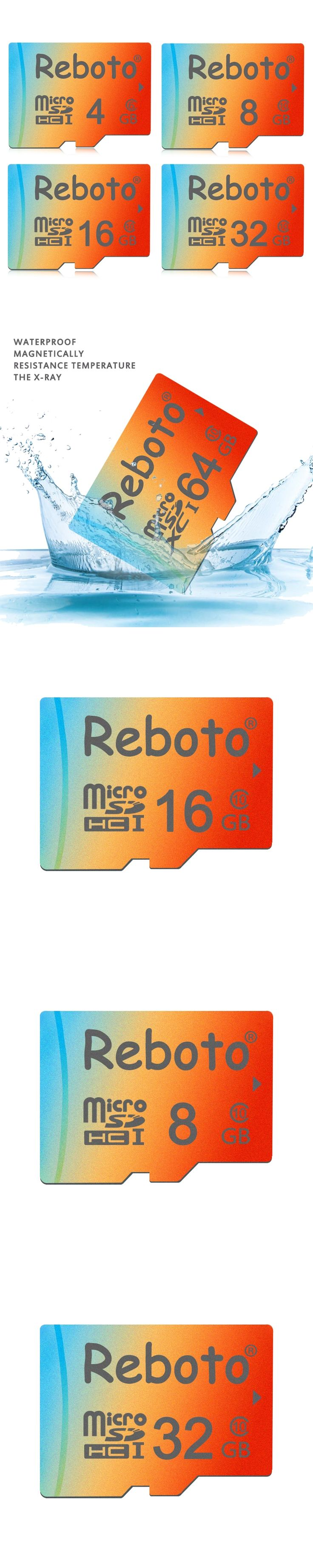 Reboto Memory Card 64GB 32GB 16GB 8GB Micro SD Card Class 10 UHS-1 4GB Class6 Microsd for Phone Colorful TF Card Pen Drive
