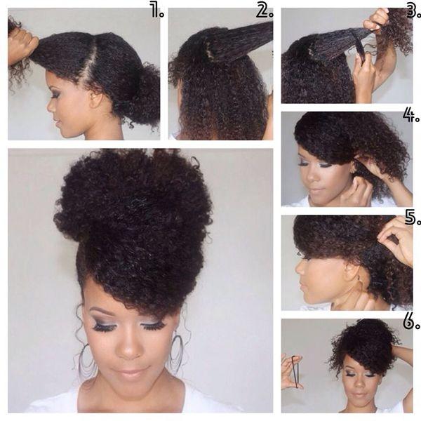 Astonishing 25 Best Ideas About Natural Bun Hairstyles On Pinterest Natural Short Hairstyles Gunalazisus