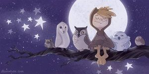 Owl Boy 2 by ~beavotron. Reminds me of my son who is 4 and loves owls. He pretends to be one ever so often, my little bird boy :)