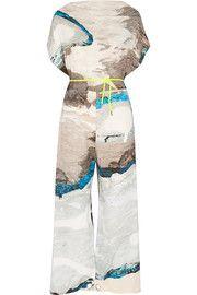 MM6 Maison MargielaPrinted crepe jumpsuit