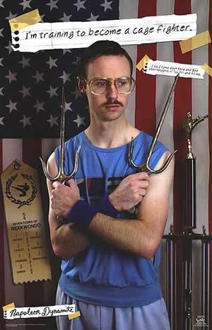 Napoleon Dynamite Kip The Cagefighter